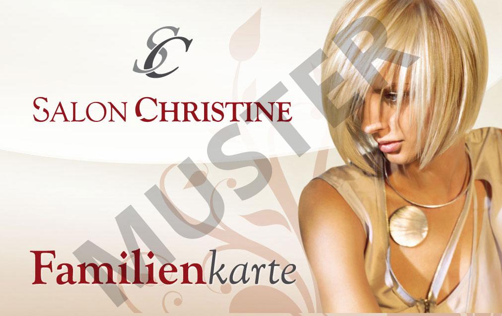 Salon Christine Familienkarte